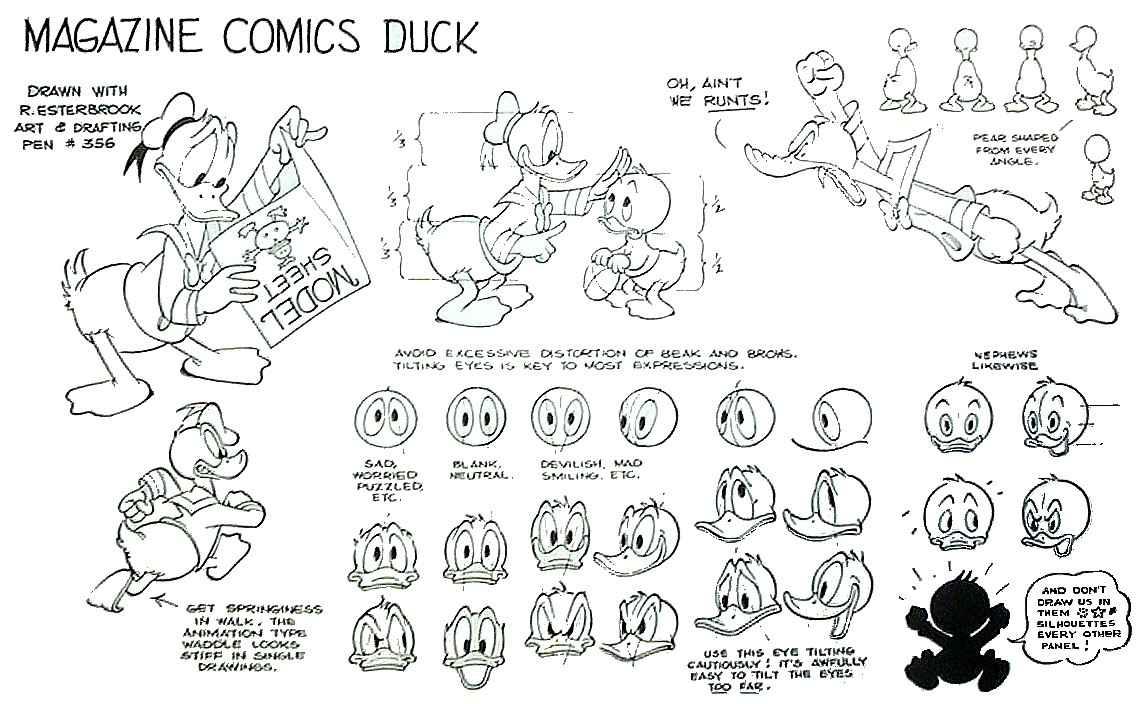 donald duck  u2013 model sheets