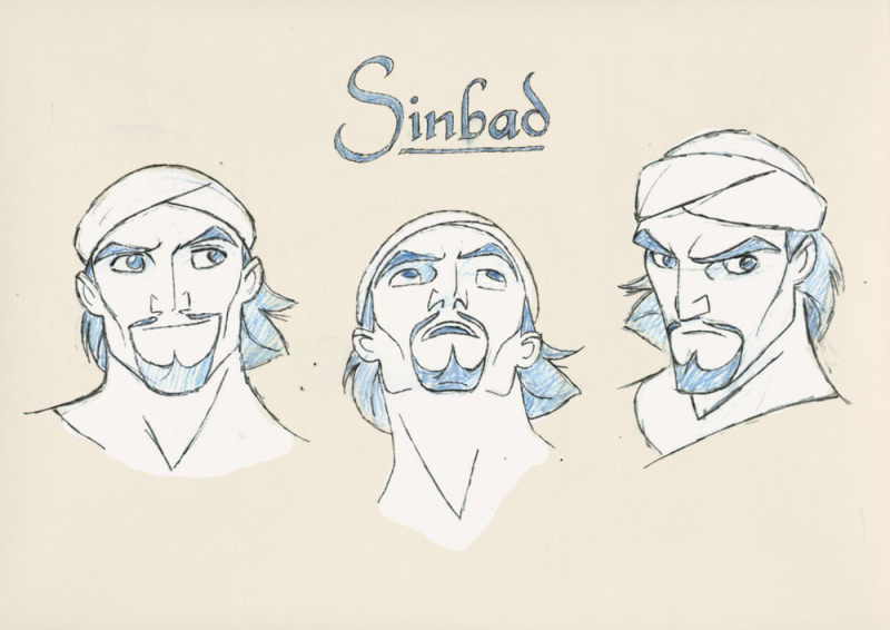 Character Design Dreamworks : Sinbad legend of the seven seas model sheets