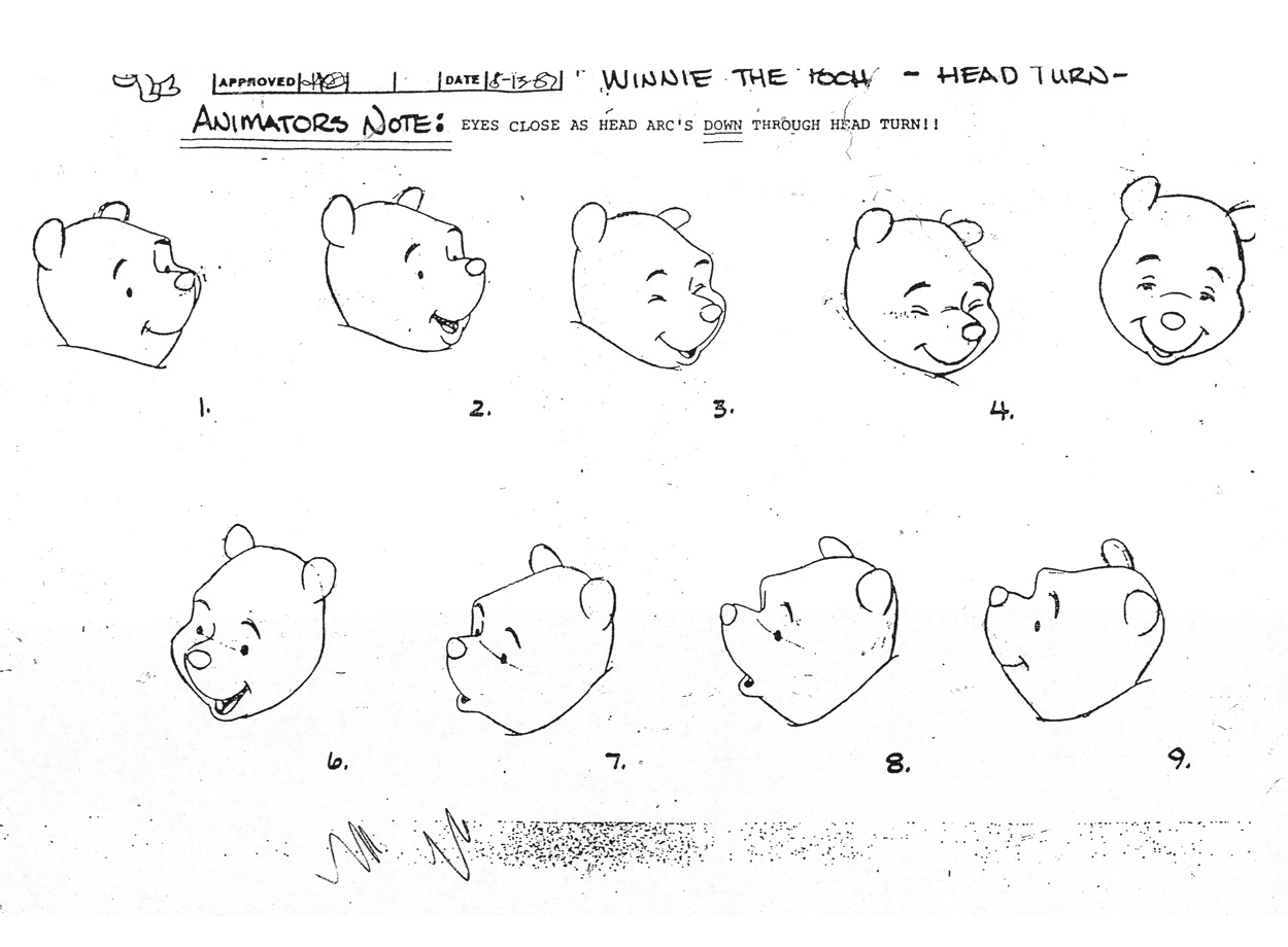 Winnie The Pooh Model Sheets Traditional Animation