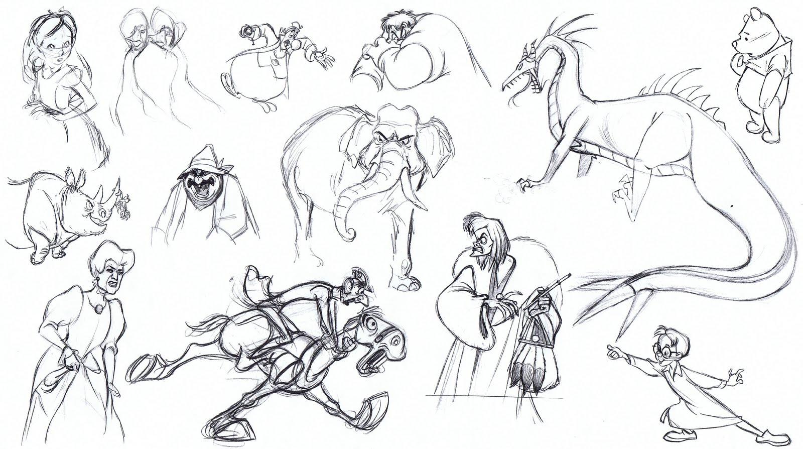 Model Sheets Traditional Animation