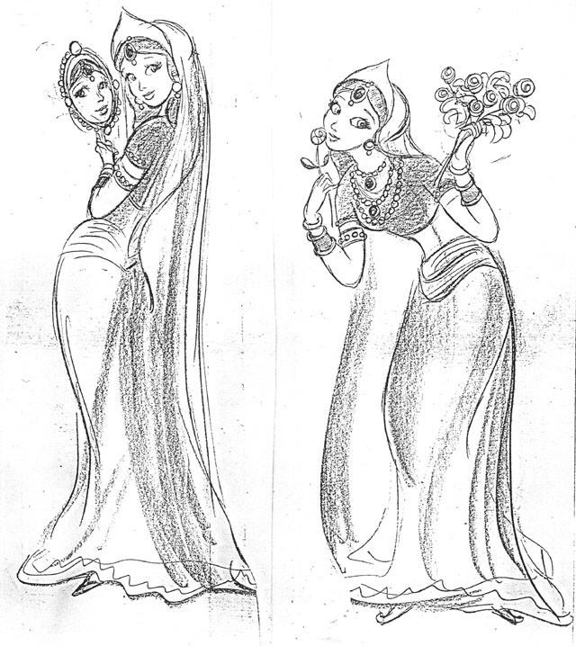 Conceptual drawings of Princess YumYum