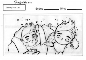 Stormy Boat Ride Storyboards by Tomm Moore