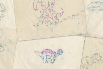 The Land Before Time Animation Drawings