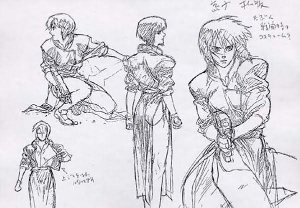 Ghost In The Shell Stand Alone Complex Model Sheets Traditional Animation
