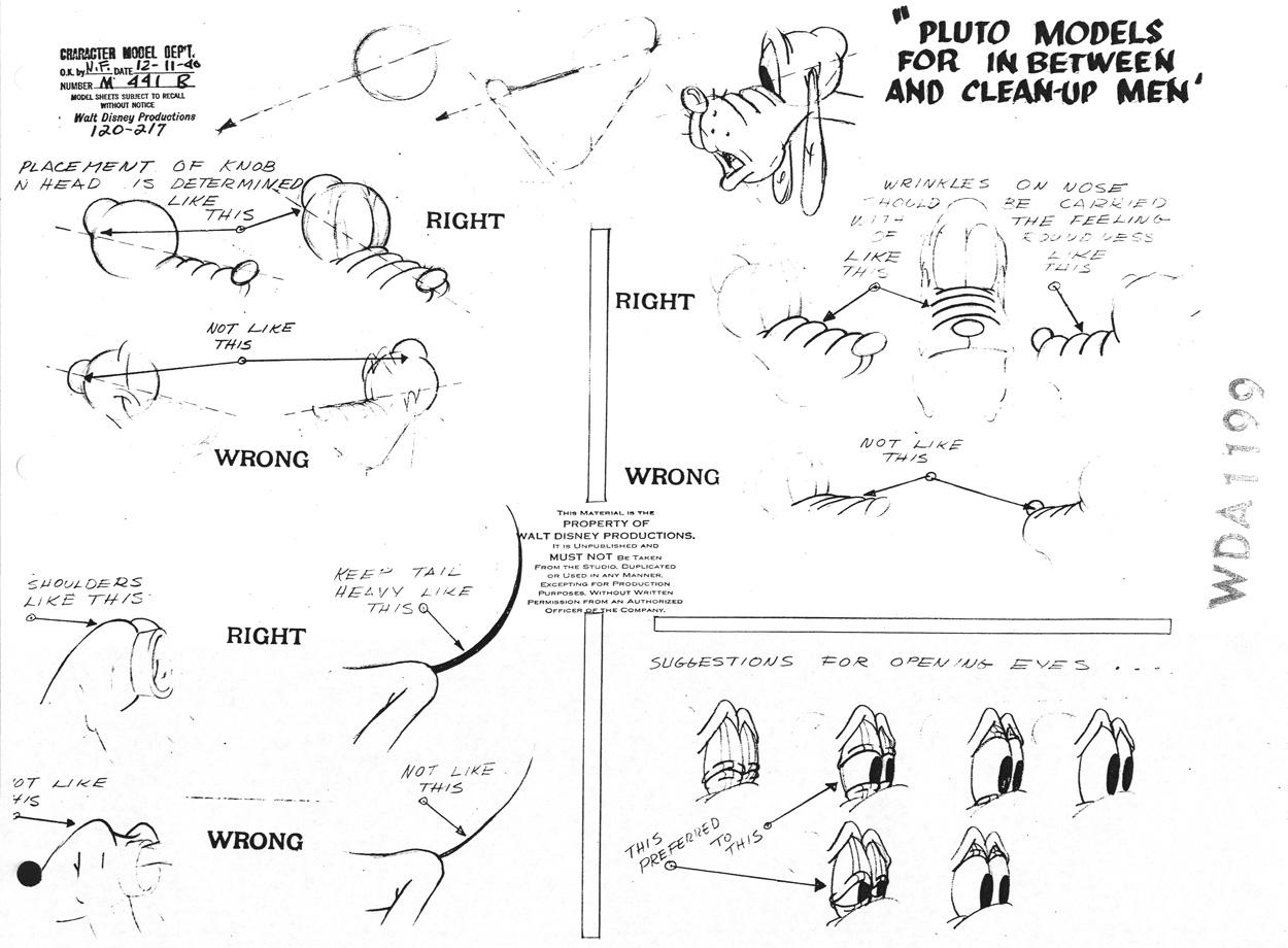 Pluto Model Sheet 1