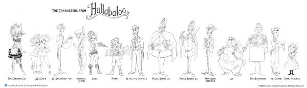 Hullabaloo Character Lineup