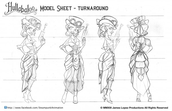 Hullabaloo Model Sheet 1