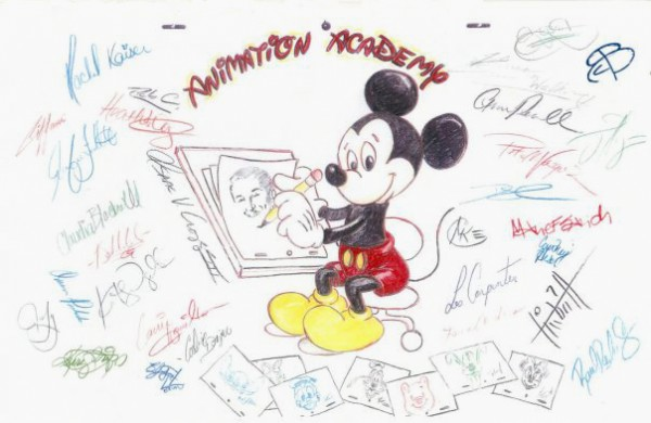 Animation Academy Artists Signatures