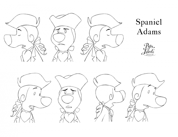 Spaniel Adams Facial Model Sheet