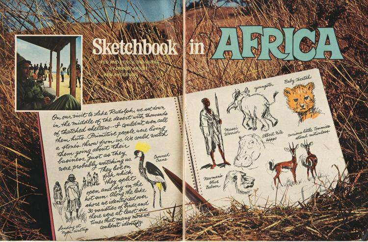 Wonderful World of Disney - Ken Anderson Sketchbook Pg 1 & 2